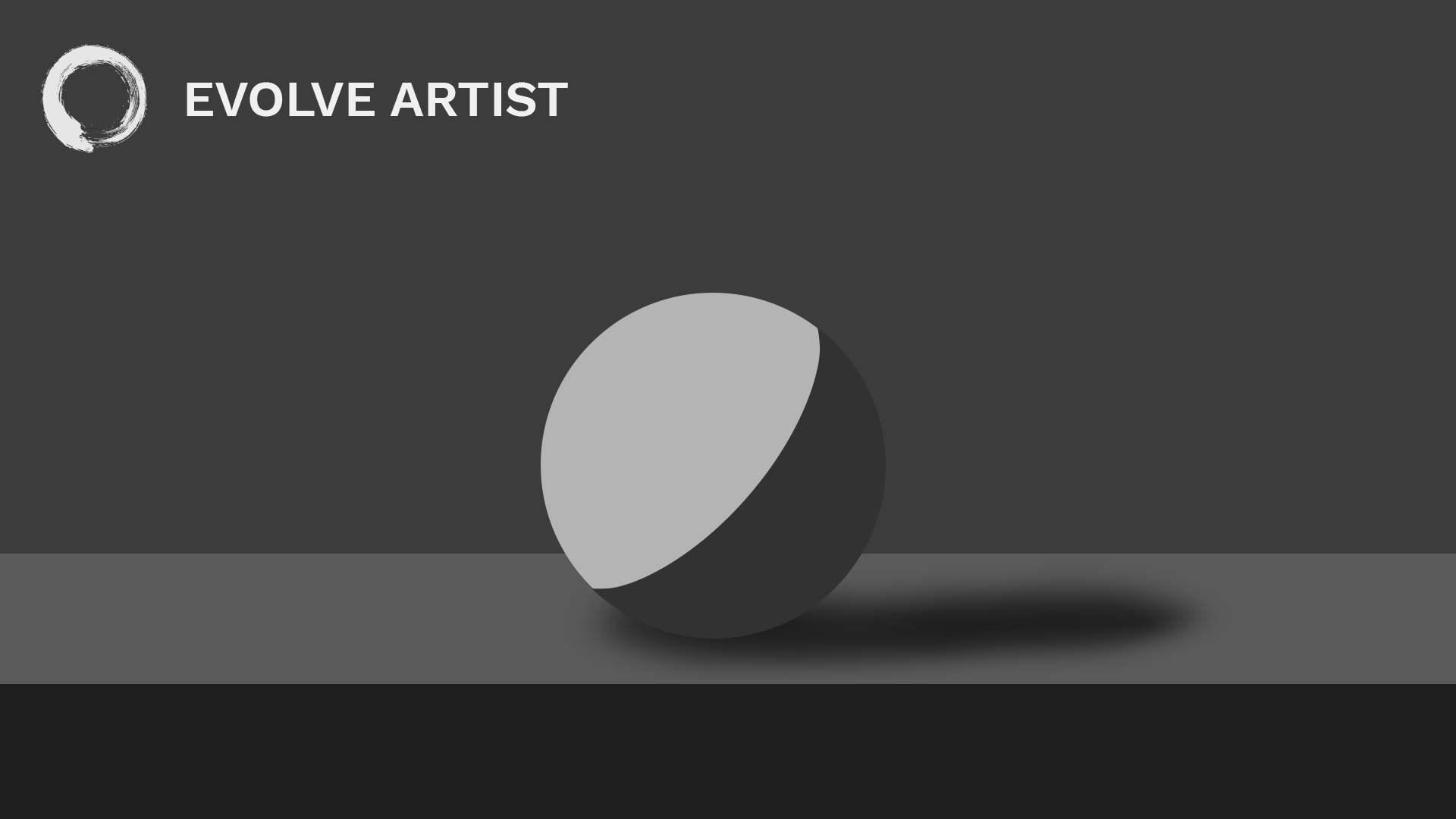 Reversed edges on the sphere depict a misunderstanding of shadows, looking unrealistic.