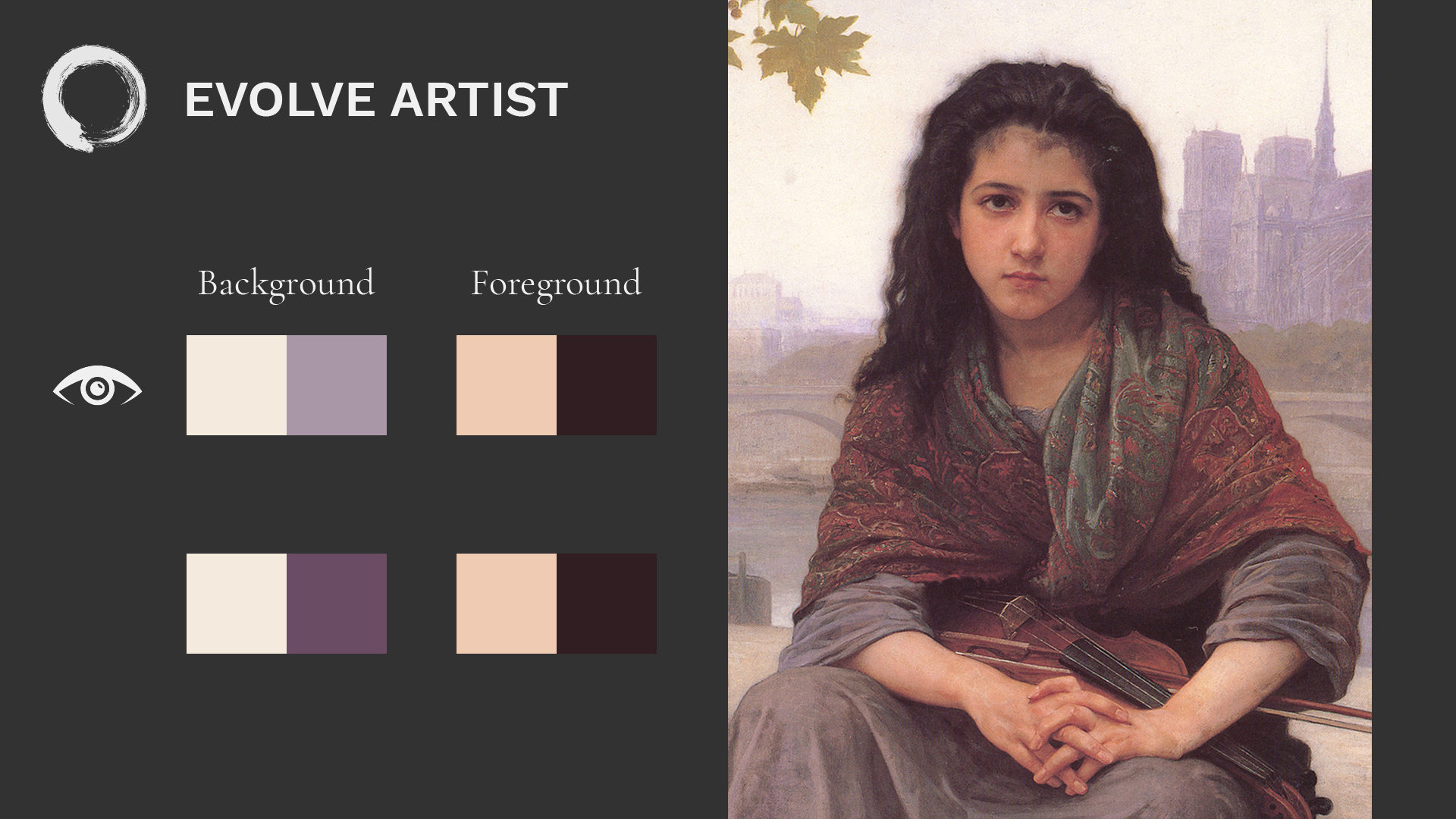 """Dark and Light Values Depicted in Foreground and Background of Bouguereau's """"The Bohemian"""""""