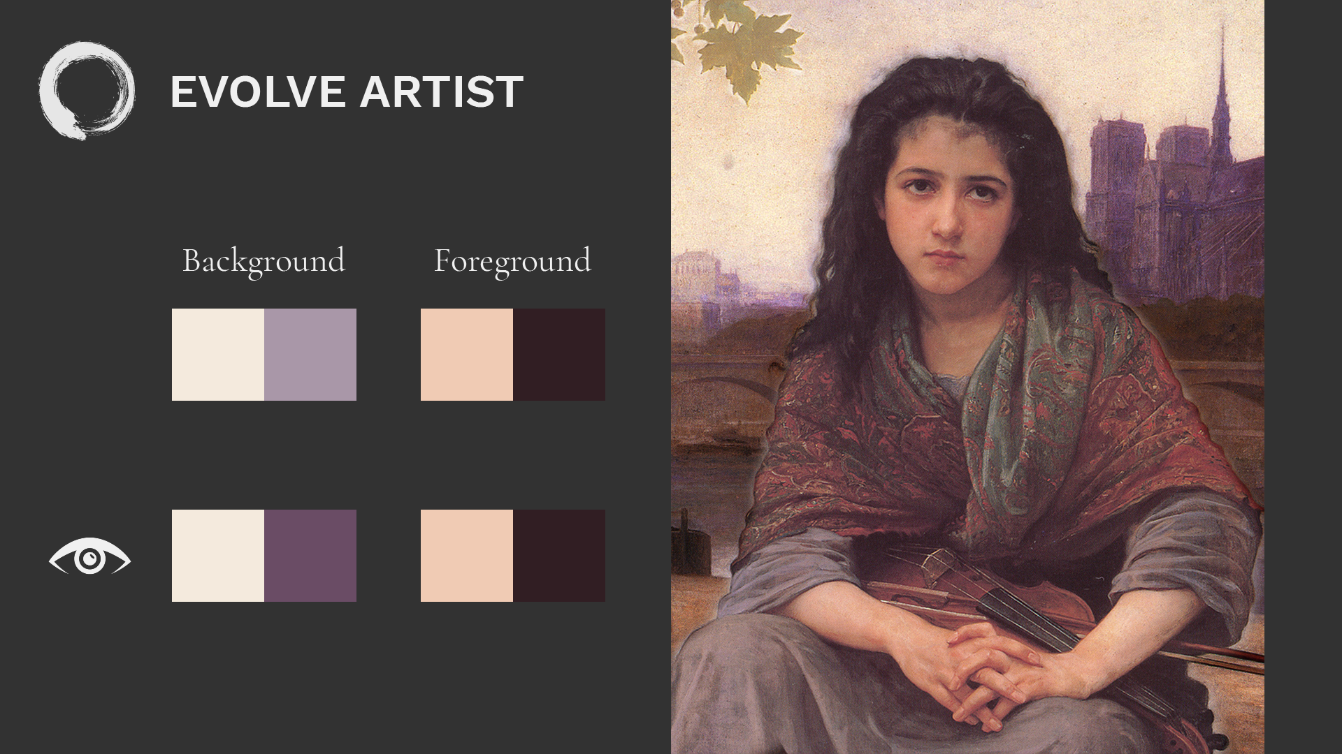 Increased contrast in Bouguereau's painting changes focal point