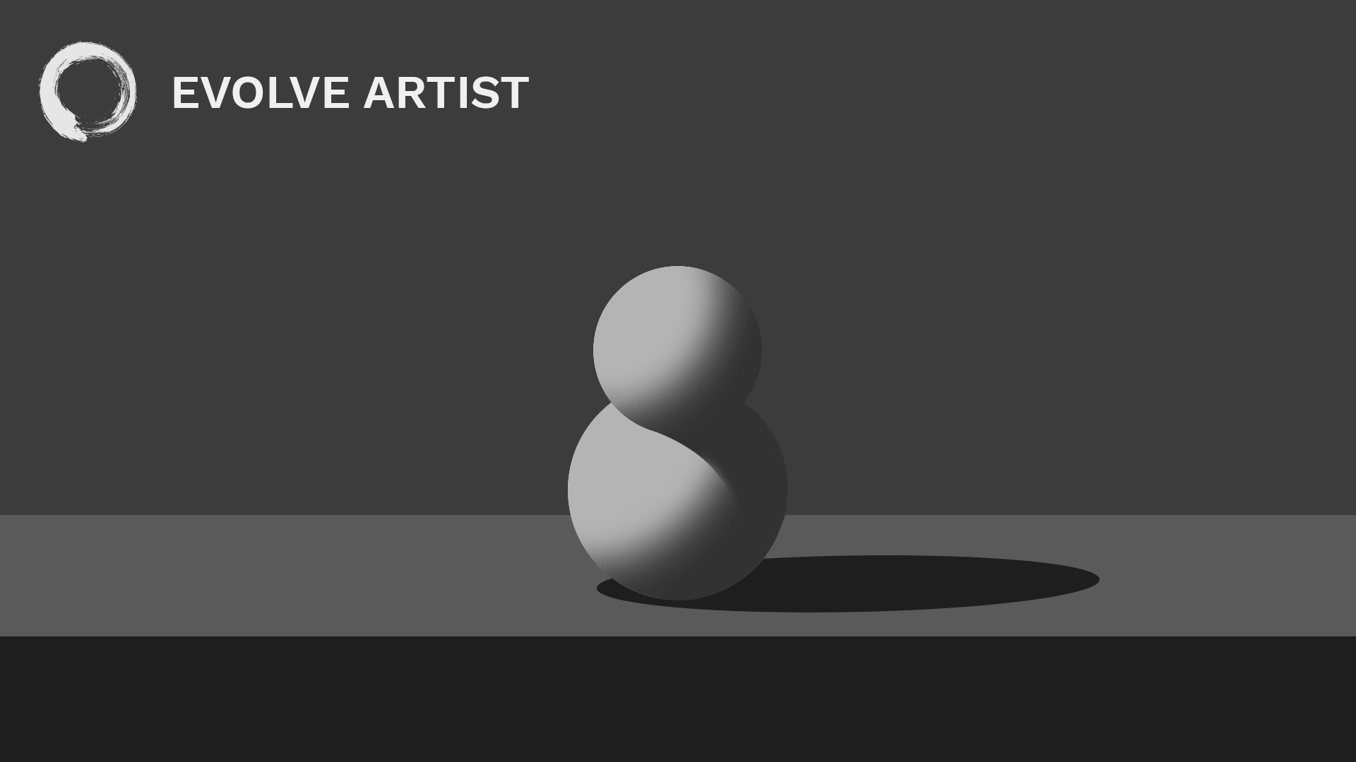 Learning how to paint edges adds form and depth to this image of a snowman.