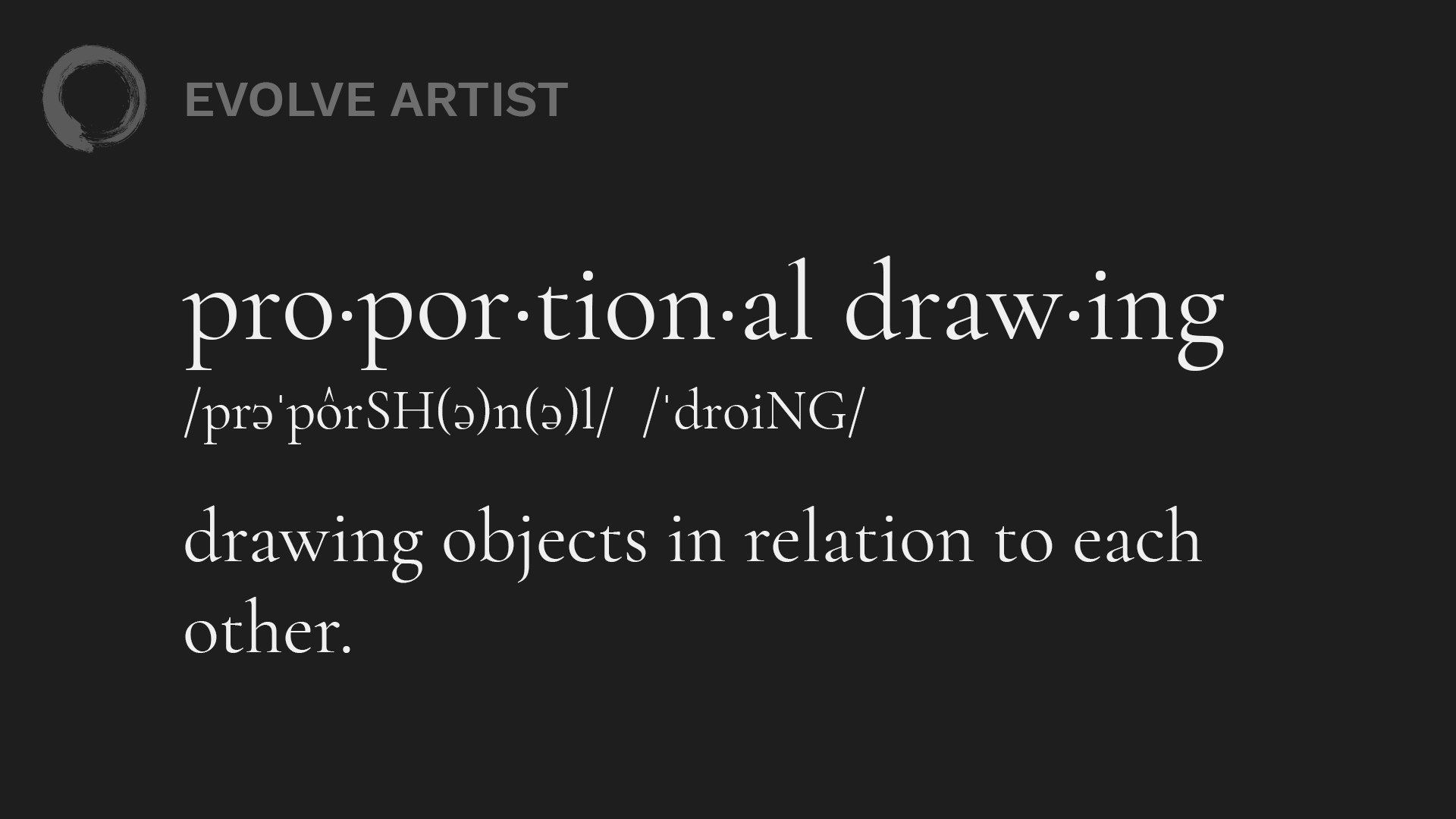proportional drawing: drawing objects in relation to each other