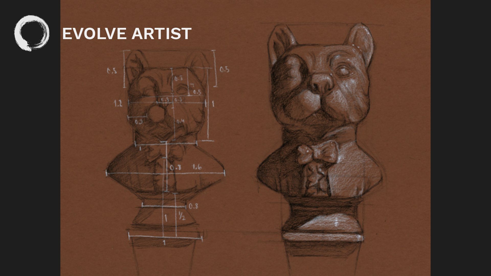 At Evolve, students are given step-by-step guidance as they develop their skill of proportional drawing.