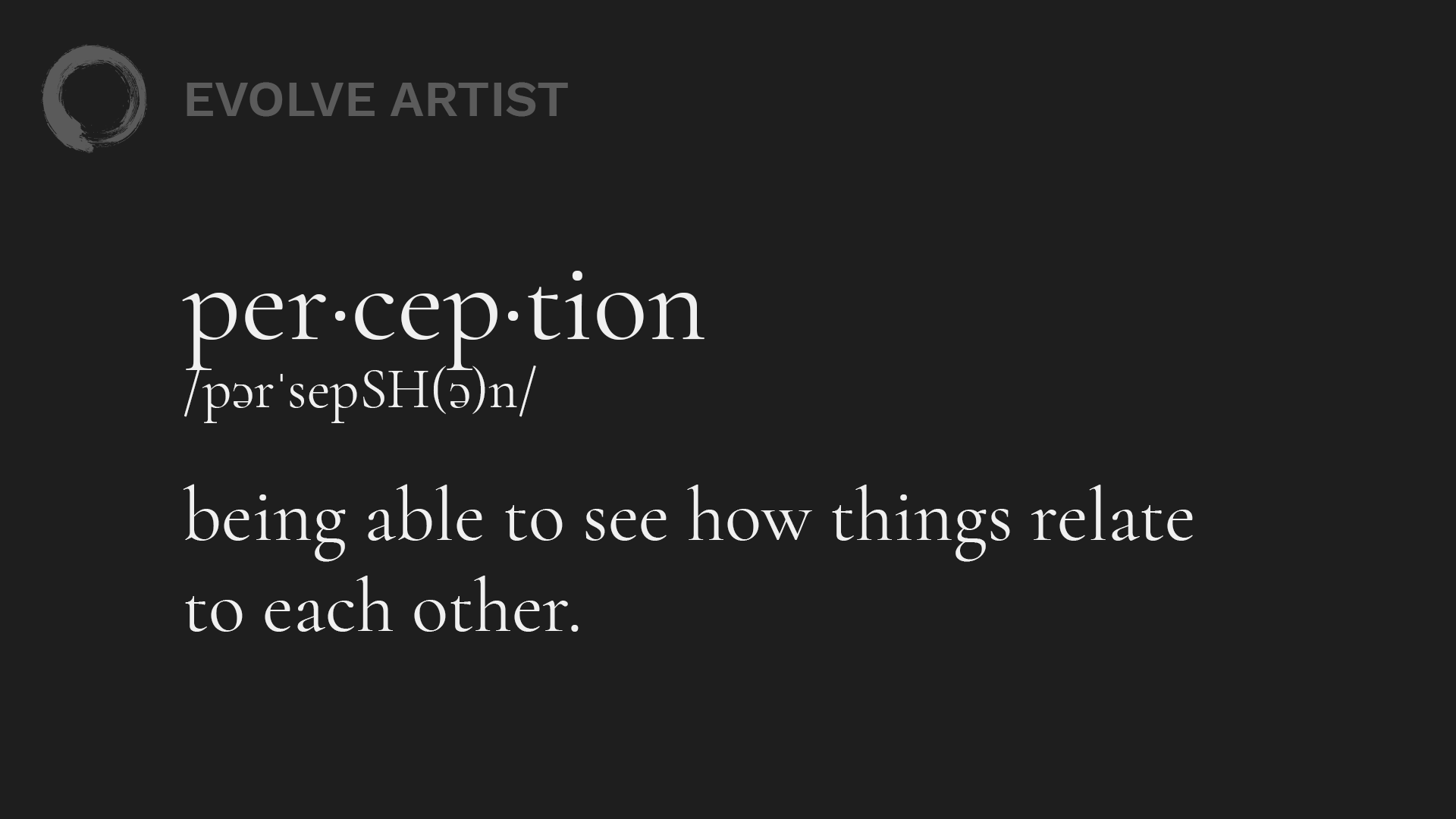Perception Definition - How to See like an Artist