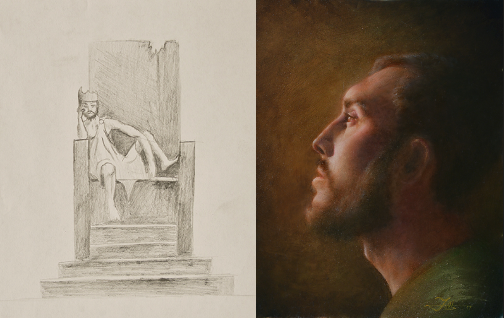 Daniel Folta's Before and After in his journey of art