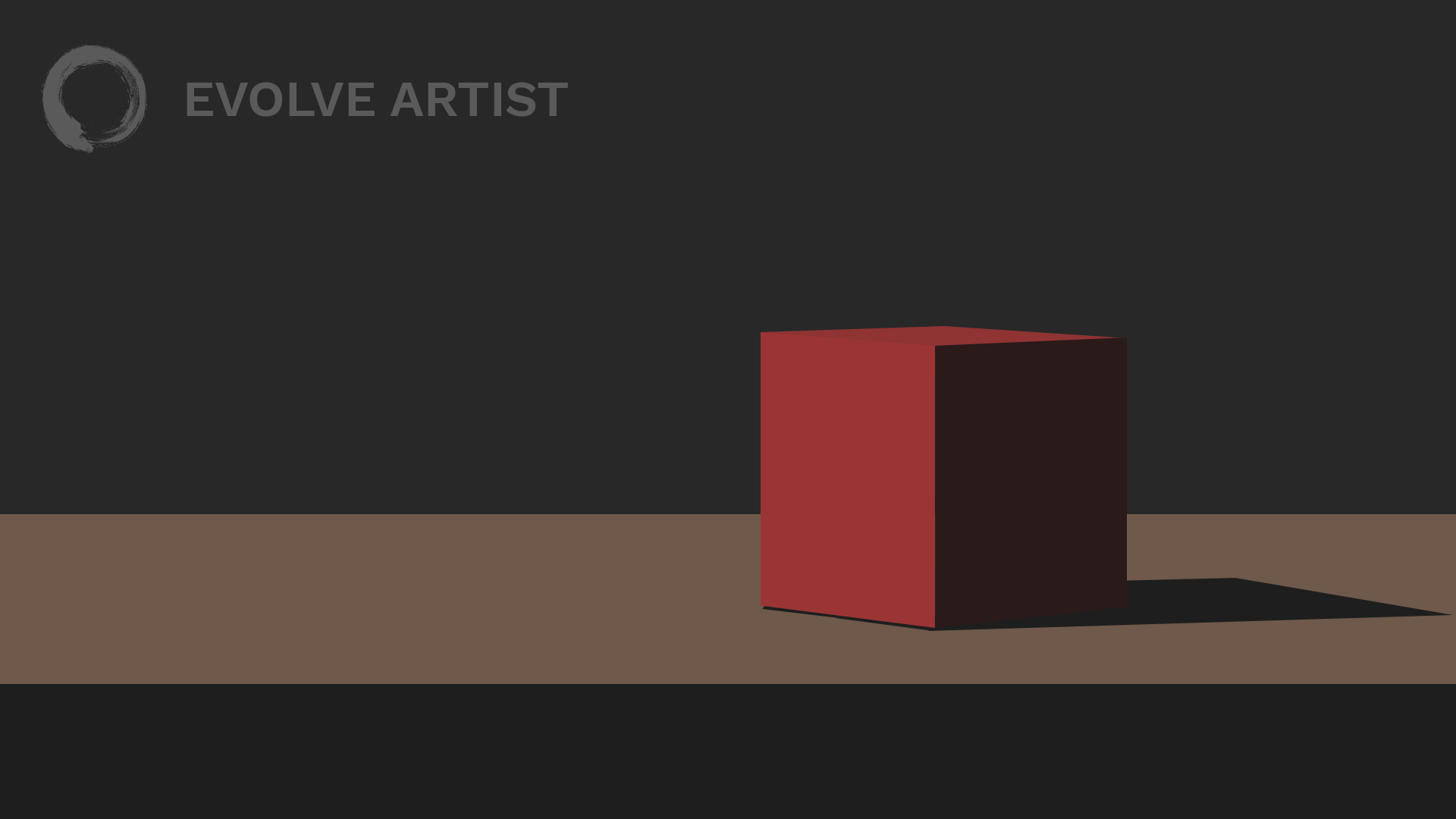 Structure is more important than details in this simple image of a cube as well as when you simplify portrait painting