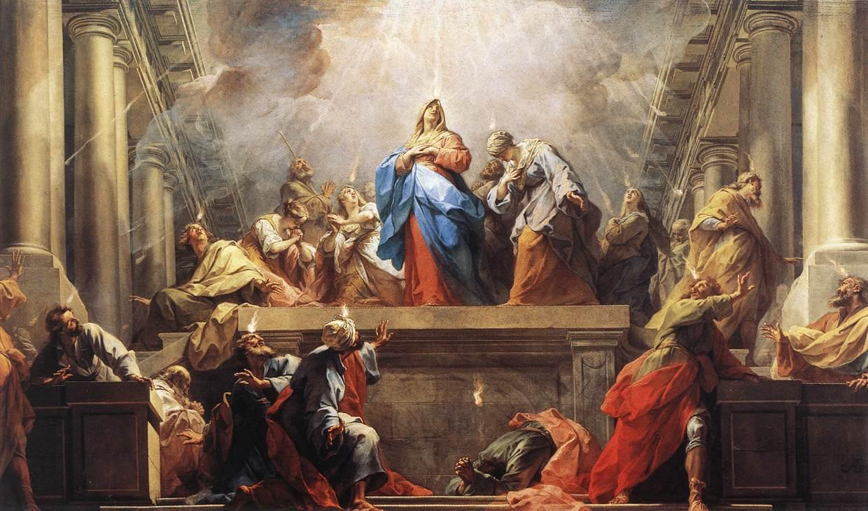 Light can symbolize life, warmth, and truth as suggested in Jean II Restout's painting, Pentecost.