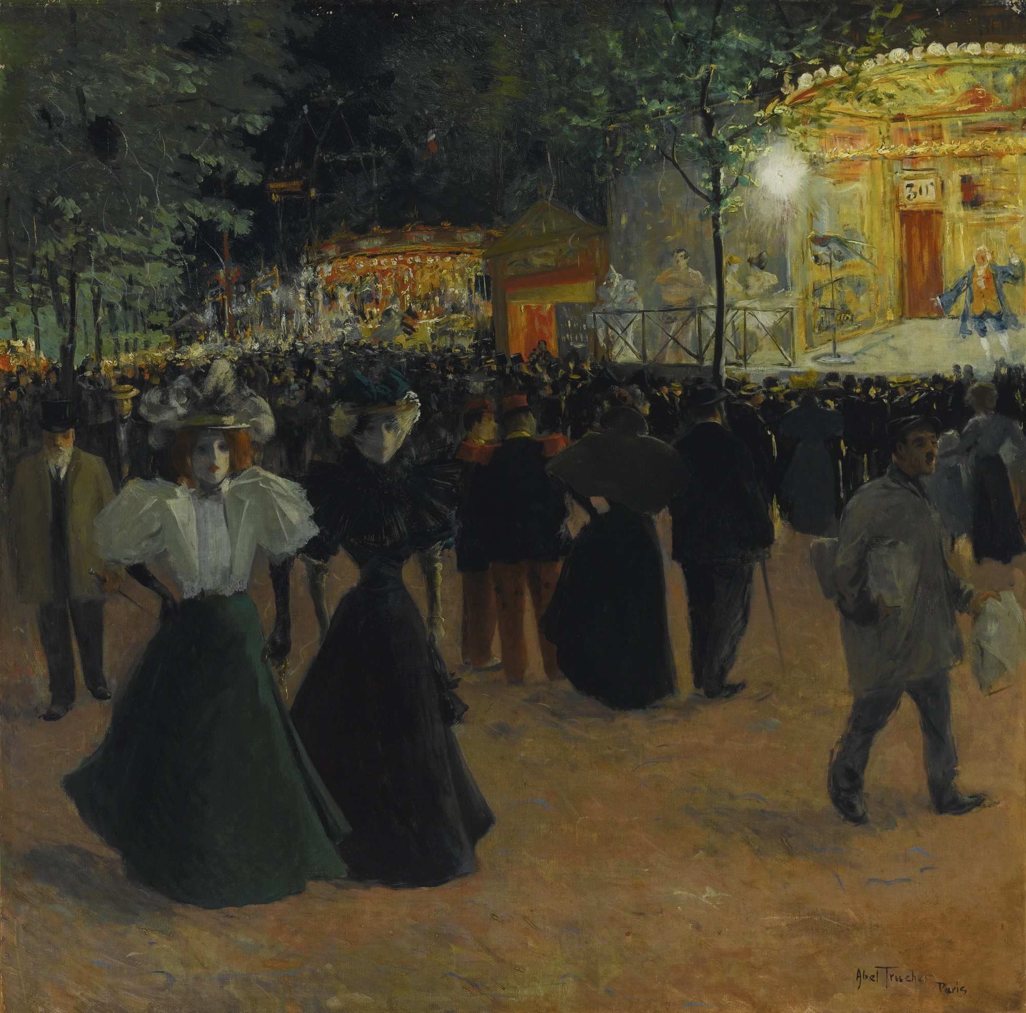 La fête foraine, Place Pigalle by Louis Abel-Truchet. Where the head structure is done well, your brain will fill in the details.