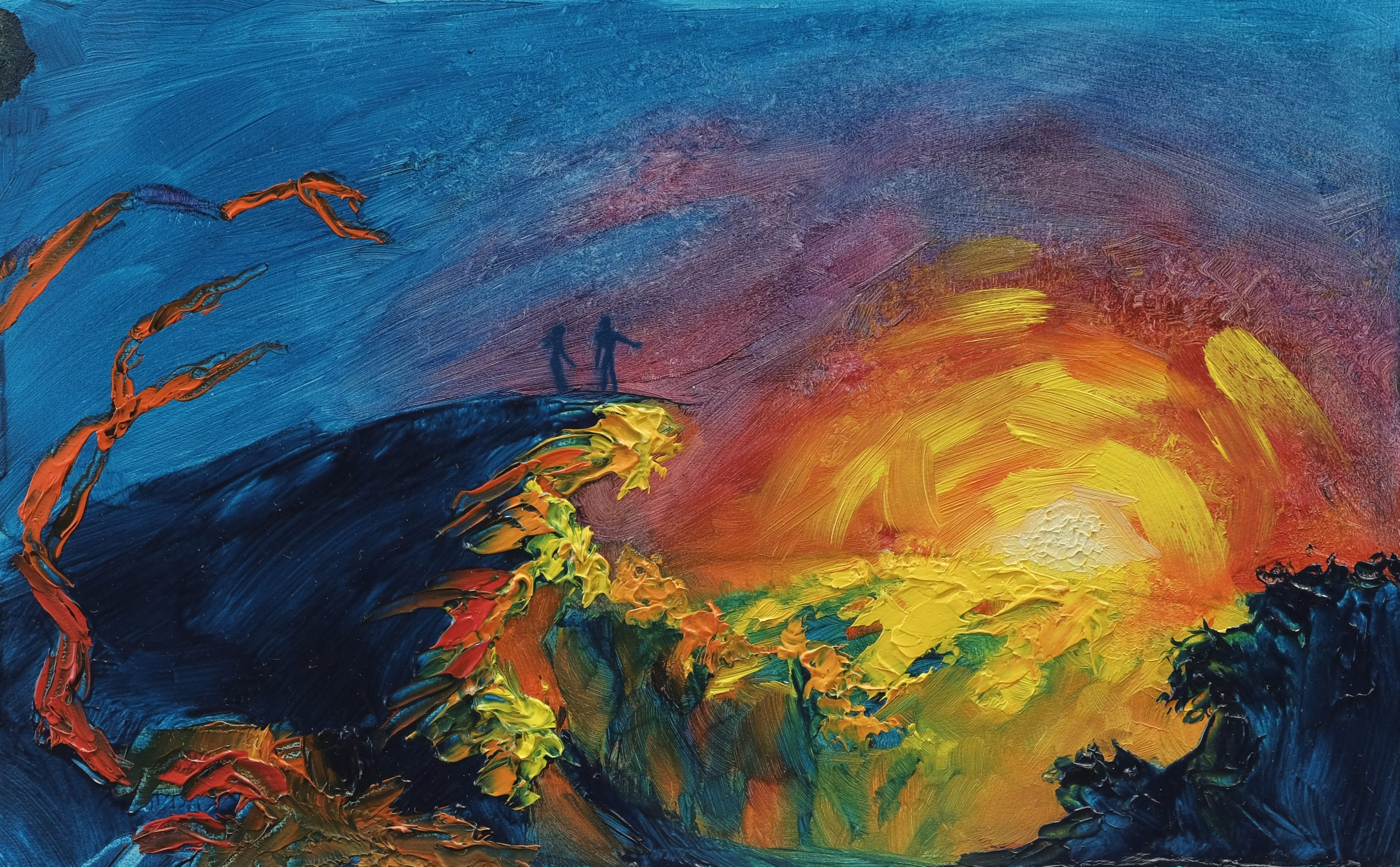 Brazen Rift's impressionistic painting First Tears (Part 3) demonstrates the strong understanding and use of the fundamentals of art.