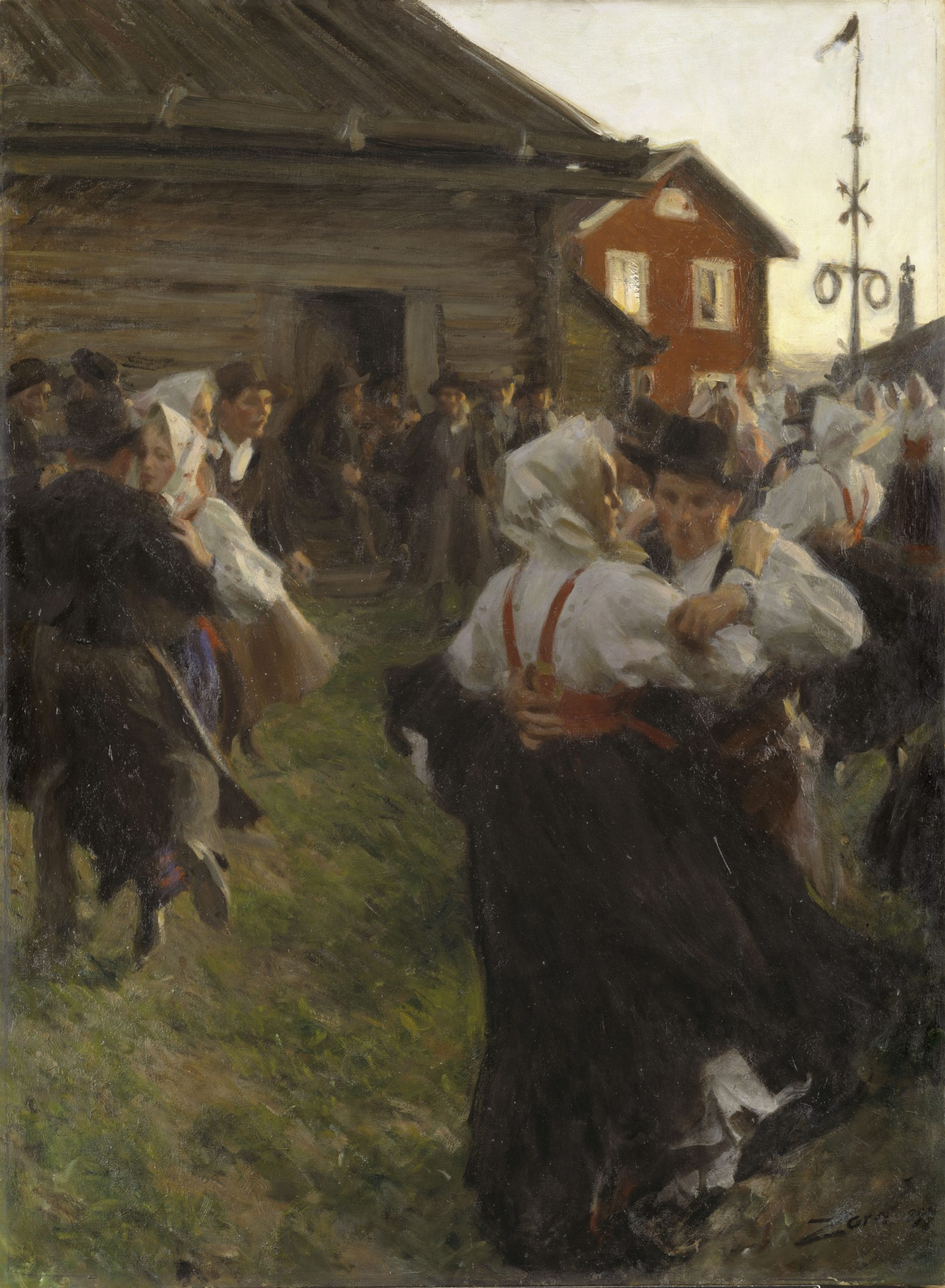 Anders Zorn's Midsummer Dance is a perfect example of how a person can be recognized in a crowd, even without depicting the details of their face.